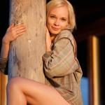 Фото блондинки раком