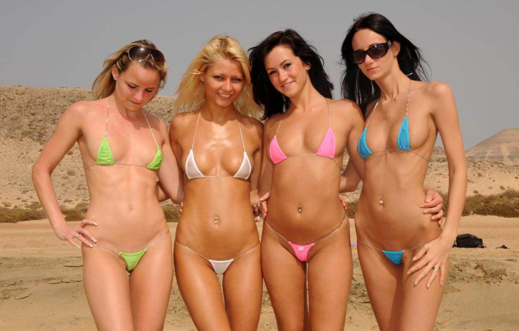Эротические фото красивых голых девушек с пляжа
